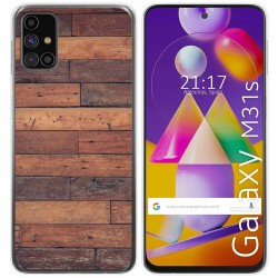 Funda Gel Tpu para Samsung Galaxy M31s diseño Madera 03 Dibujos