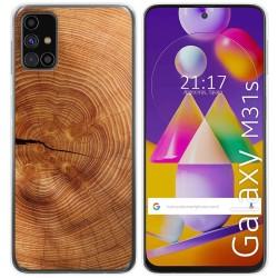 Funda Gel Tpu para Samsung Galaxy M31s diseño Madera 04 Dibujos