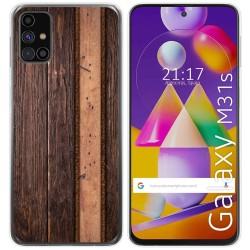 Funda Gel Tpu para Samsung Galaxy M31s diseño Madera 05 Dibujos