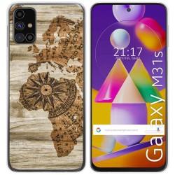 Funda Gel Tpu para Samsung Galaxy M31s diseño Madera 07 Dibujos