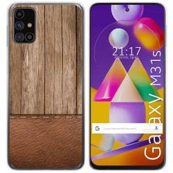 Funda Gel Tpu para Samsung Galaxy M31s diseño Madera 09 Dibujos
