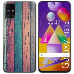Funda Gel Tpu para Samsung Galaxy M31s diseño Madera 10 Dibujos