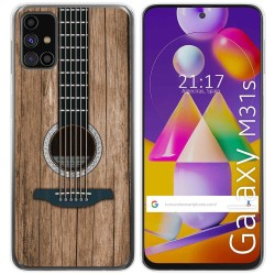 Funda Gel Tpu para Samsung Galaxy M31s diseño Madera 11 Dibujos