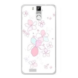 Funda Gel Tpu para Oukitel K6000 / K6000 Pro Diseño Flores Minimal Dibujos