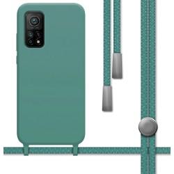 Funda Silicona Líquida con Cordón para Xiaomi Mi 10T / Mi 10T Pro color Verde