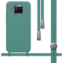 Funda Silicona Líquida con Cordón para Xiaomi Mi 10T Lite color Verde