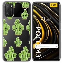 Funda Gel Transparente para Xiaomi POCO M3 / Redmi 9T diseño Cactus Dibujos