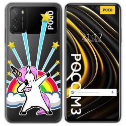 Funda Gel Transparente para Xiaomi POCO M3 / Redmi 9T diseño Unicornio Dibujos