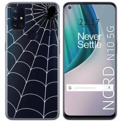 Funda Gel Transparente para Oneplus Nord N10 5G diseño Araña Dibujos
