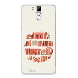 Funda Gel Tpu para Oukitel K6000 / K6000 Pro Diseño Mundo Libro Dibujos