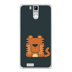 Funda Gel Tpu para Oukitel K6000 / K6000 Pro Diseño Tigre Dibujos