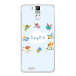 Funda Gel Tpu para Oukitel K6000 / K6000 Pro Diseño Spring Birds Dibujos