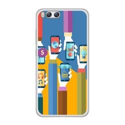 Funda Gel Tpu para Xiaomi Mi6 Diseño Apps Dibujos
