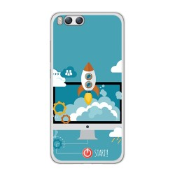 Funda Gel Tpu para Xiaomi Mi6 Diseño Cohete Dibujos