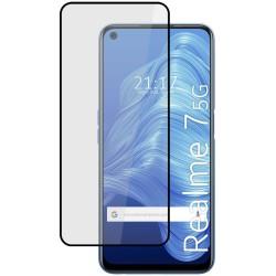 Protector Cristal Templado Completo 5D Full Glue Negro para Realme 7 5G Vidrio