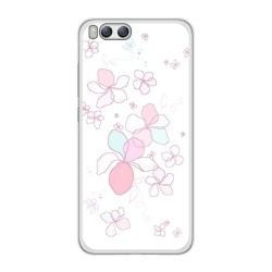 Funda Gel Tpu para Xiaomi Mi6 Diseño Flores Minimal Dibujos