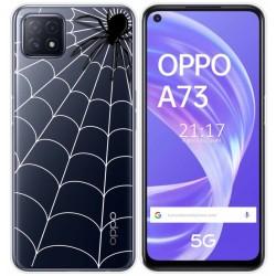Funda Gel Transparente para Oppo A73 5G diseño Araña Dibujos