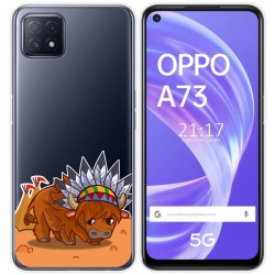 Funda Gel Transparente para Oppo A73 5G diseño Bufalo Dibujos