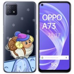 Funda Gel Transparente para Oppo A73 5G diseño Cabra Dibujos