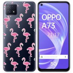 Funda Gel Transparente para Oppo A73 5G diseño Flamenco Dibujos
