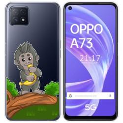Funda Gel Transparente para Oppo A73 5G diseño Mono Dibujos