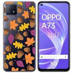 Funda Gel Transparente para Oppo A73 5G diseño Otoño Dibujos