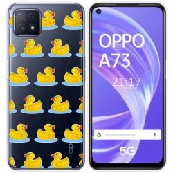 Funda Gel Transparente para Oppo A73 5G diseño Pato Dibujos