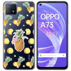 Funda Gel Transparente para Oppo A73 5G diseño Piña Dibujos