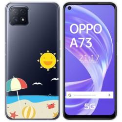 Funda Gel Transparente para Oppo A73 5G diseño Playa Dibujos