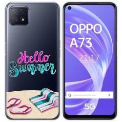 Funda Gel Transparente para Oppo A73 5G diseño Summer Dibujos