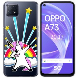 Funda Gel Transparente para Oppo A73 5G diseño Unicornio Dibujos