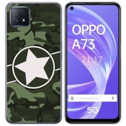 Funda Gel Tpu para Oppo A73 5G diseño Camuflaje 01 Dibujos
