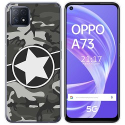 Funda Gel Tpu para Oppo A73 5G diseño Camuflaje 02 Dibujos