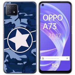 Funda Gel Tpu para Oppo A73 5G diseño Camuflaje 03 Dibujos