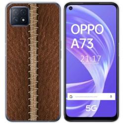 Funda Gel Tpu para Oppo A73 5G diseño Cuero 01 Dibujos