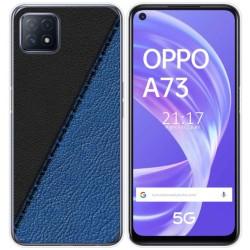 Funda Gel Tpu para Oppo A73 5G diseño Cuero 02 Dibujos