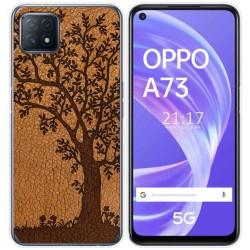 Funda Gel Tpu para Oppo A73 5G diseño Cuero 03 Dibujos