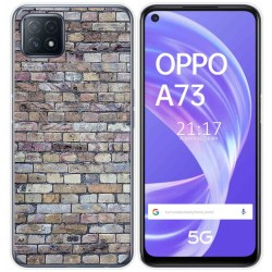 Funda Gel Tpu para Oppo A73 5G diseño Ladrillo 02 Dibujos