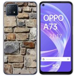 Funda Gel Tpu para Oppo A73 5G diseño Ladrillo 03 Dibujos
