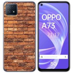 Funda Gel Tpu para Oppo A73 5G diseño Ladrillo 04 Dibujos