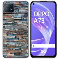 Funda Gel Tpu para Oppo A73 5G diseño Ladrillo 05 Dibujos