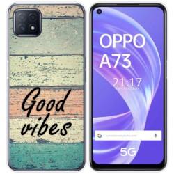 Funda Gel Tpu para Oppo A73 5G diseño Madera 01 Dibujos