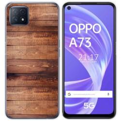 Funda Gel Tpu para Oppo A73 5G diseño Madera 02 Dibujos