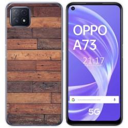 Funda Gel Tpu para Oppo A73 5G diseño Madera 03 Dibujos