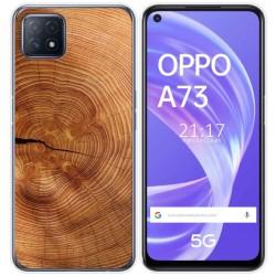 Funda Gel Tpu para Oppo A73 5G diseño Madera 04 Dibujos