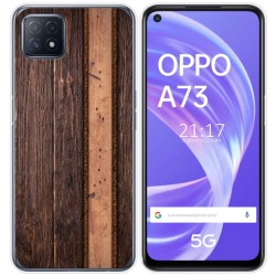 Funda Gel Tpu para Oppo A73 5G diseño Madera 05 Dibujos