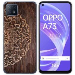 Funda Gel Tpu para Oppo A73 5G diseño Madera 06 Dibujos