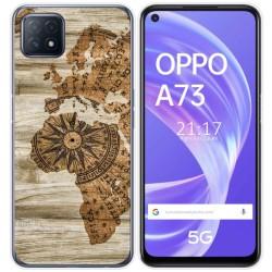 Funda Gel Tpu para Oppo A73 5G diseño Madera 07 Dibujos