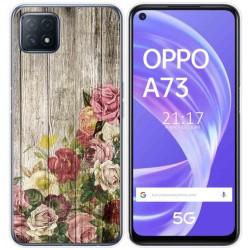 Funda Gel Tpu para Oppo A73 5G diseño Madera 08 Dibujos