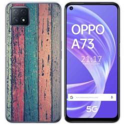 Funda Gel Tpu para Oppo A73 5G diseño Madera 10 Dibujos